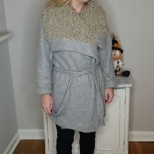 FREE PEOPLE Belted Jacket Size Small